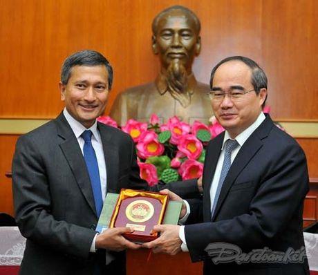 Chu tich Nguyen Thien Nhan tiep Bo truong Ngoai giao Singapore - Anh 6