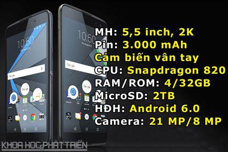 BlackBerry DTEK60 trinh lang: Man hinh 2K, chip Snapdragon 820, gia 499 USD - Anh 1