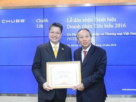 Dai dien Chubb Life Viet Nam nhan danh hieu Doanh nhan Tieu bieu 2016 - Anh 1