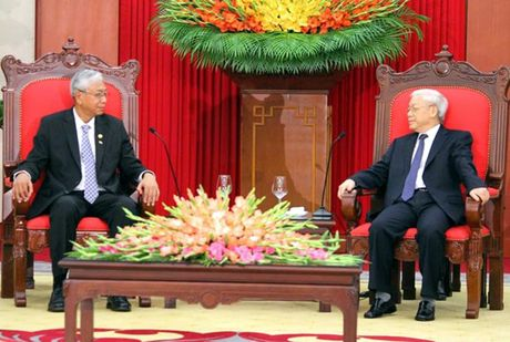 Hinh anh le don Tong thong Myanmar tham chinh thuc Viet Nam - Anh 14
