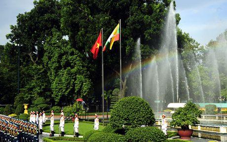 Hinh anh le don Tong thong Myanmar tham chinh thuc Viet Nam - Anh 1