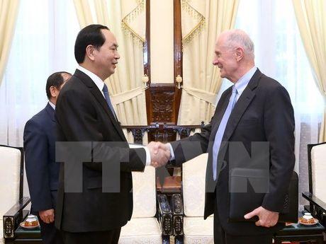 Chu tich nuoc Tran Dai Quang tiep giao su truong Dai hoc Brown - Anh 1