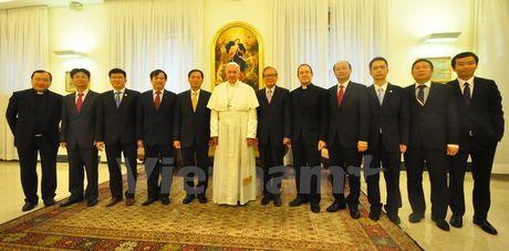 Thu truong Ngoai giao Bui Thanh Son tham Toa thanh Vatican - Anh 1