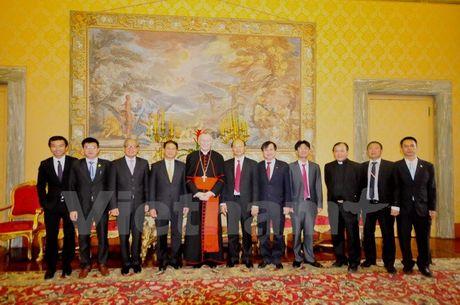 Thu truong Ngoai giao Bui Thanh Son tham Toa thanh Vatican - Anh 3