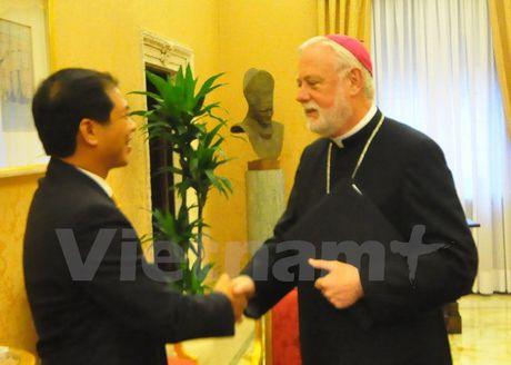 Thu truong Ngoai giao Bui Thanh Son tham Toa thanh Vatican - Anh 4