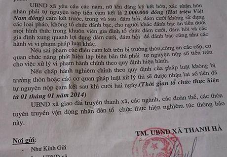 'Dat coc' 2 trieu moi dang ky ket hon: Chu tich huyen bat ngo - Anh 2