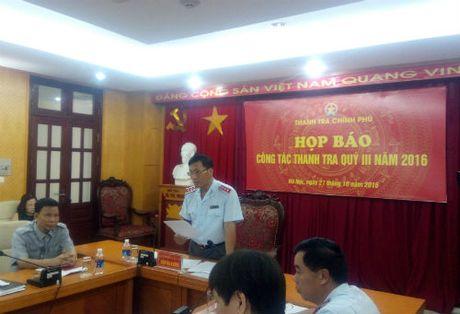 Thanh tra Chinh phu phat hien vi pham hon 42 ngan ty dong trong quy III - Anh 1
