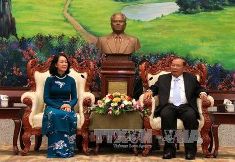 Tong Bi thu, Chu tich nuoc Lao tiep doan cap cao Dang ta - Anh 2
