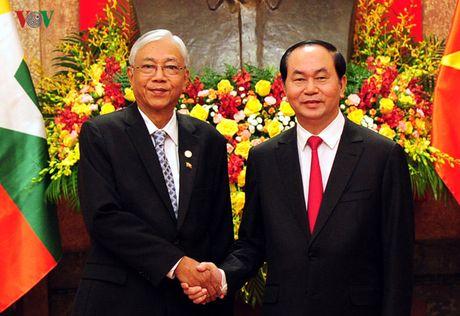 Lanh dao Dang, Nha nuoc tiep, hoi dam voi Tong thong Myanmar - Anh 2