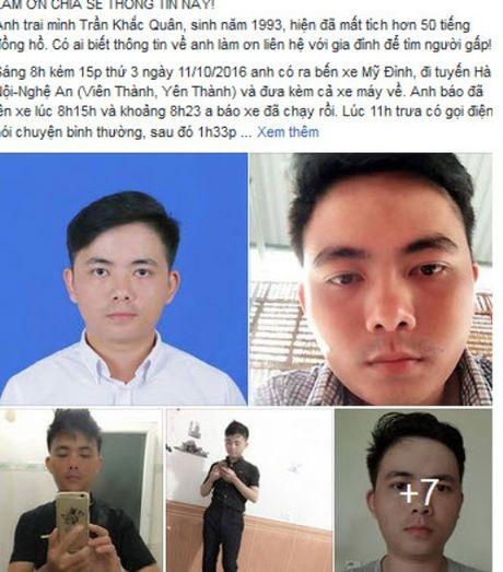 Su tro ve bi an cua nam sinh mat tich tren duong tu Ha Noi ve Nghe An - Anh 1