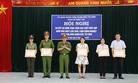 Ban chi dao 138 quan Bac Tu Liem: So ket 2 nam thuc hien quy che phoi hop bao ve cum cong nghiep - Anh 1