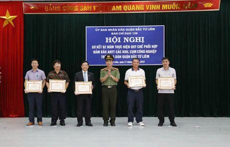 Ban chi dao 138 quan Bac Tu Liem: So ket 2 nam thuc hien quy che phoi hop bao ve cum cong nghiep - Anh 2