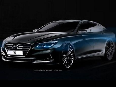 Hyundai Azera 2017 se co thiet ke cao cap hon - Anh 1