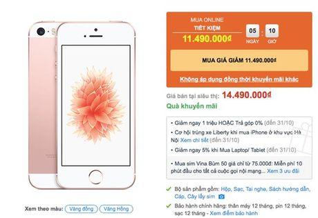 iPhone SE giam gia 2-3 trieu dong - Anh 1