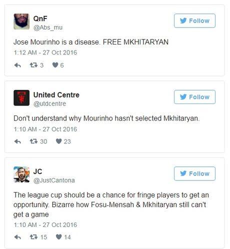 Fan gian du vi Mourinho lai bo roi Mkhitaryan - Anh 1