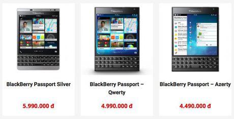 Dan buon xa hang, gia BlackBerry Passport tai VN cham day - Anh 2