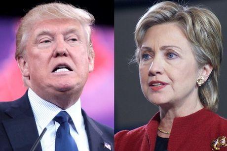 Ong Trump gap rut thu hep khoang cach voi ba Clinton - Anh 1