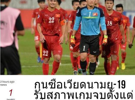 DIEM TIN TOI (28.10): Bao Thai Lan 'vui dap' U19 Viet Nam - Anh 1
