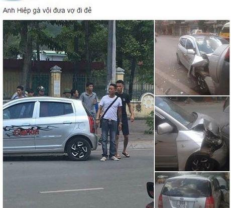 Clip Hiep Ga cho vo mang thai di benh vien gay tai nan, o to mop dau - Anh 2