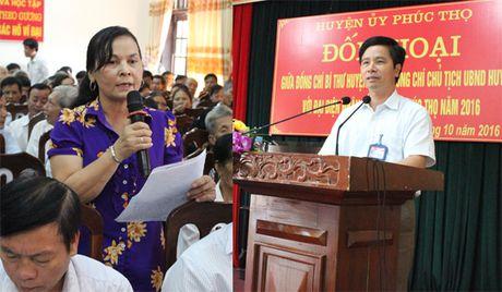 Lanh dao huyen Phuc Tho doi thoai voi Nhan dan: Nhieu kien nghi sat suon som duoc giai quyet - Anh 1