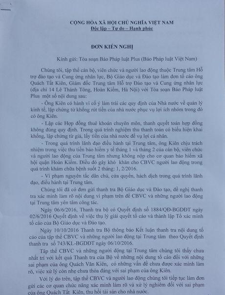 Thu tuong Nguyen Xuan Phuc yeu cau Bo GD&DT bao cao vu to cao tai Trung tam HTDT va Cung ung nhan luc - Anh 1