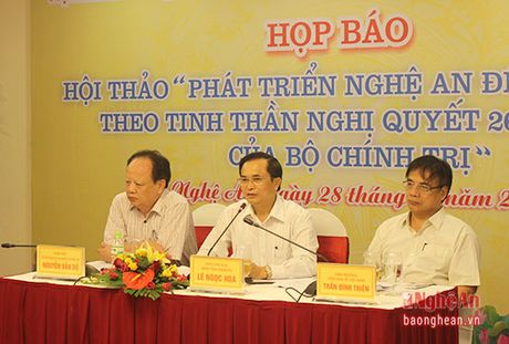 Ngay mai (29/10) dien ra Hoi thao 'Phat trien Nghe An den nam 2020 theo tinh than Nghi Quyet 26' - Anh 1