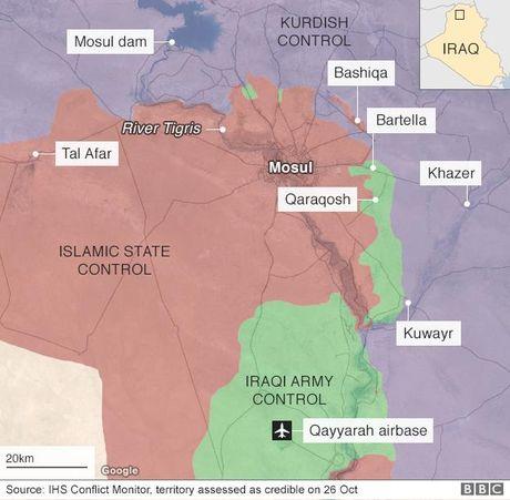 Phien quan IS o Iraq dong loat cao rau de chay tron - Anh 2