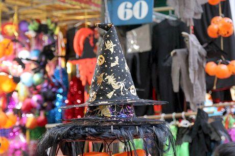 "Bi ngo Halloween, mat na ""ma quy"" len ngoi tren pho Hang Ma - Anh 15"