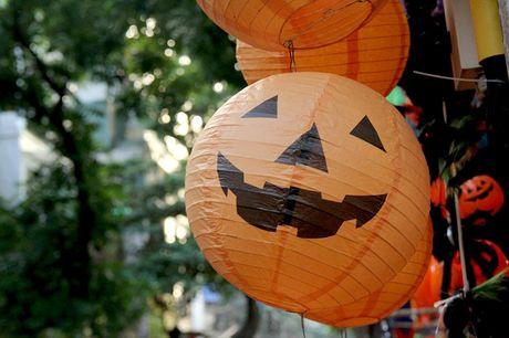 "Bi ngo Halloween, mat na ""ma quy"" len ngoi tren pho Hang Ma - Anh 2"