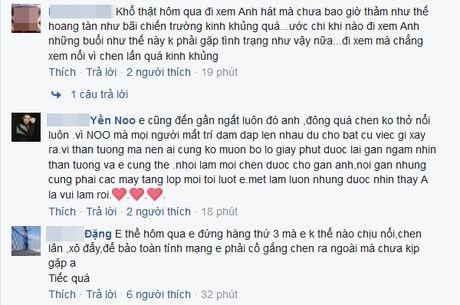 Fan ngat tai cho khi chen lan xem Noo Phuoc Thinh bieu dien - Anh 3