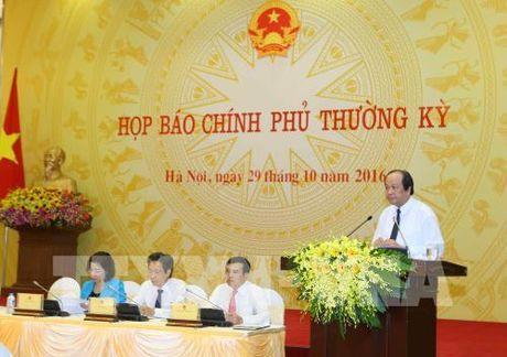 Hop bao thuong ky Chinh phu: Dai dien cac bo, nganh thong tin ve nhung van de 'nong' - Anh 1