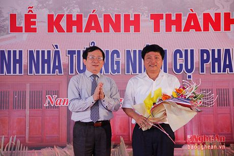 Long trong khanh thanh cong trinh Nha tuong niem cu Phan Boi Chau - Anh 10