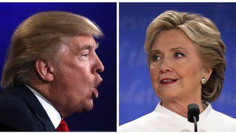 Ti le ung ho cua ong Trump va ba Clinton da sat nhau - Anh 1