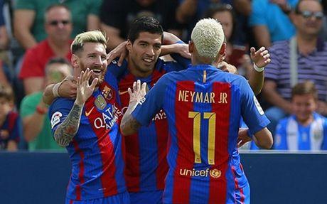 Barca - Granada: Xem M-N-S tao mua ban thang - Anh 1