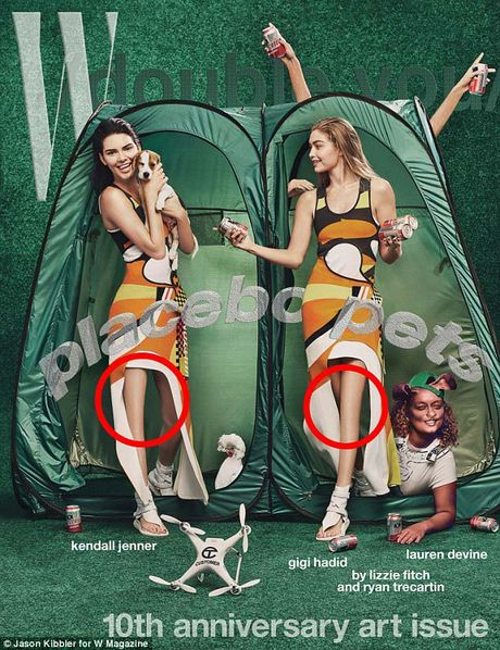 Kendall Jenner mat dau goi vi photoshop - Anh 1