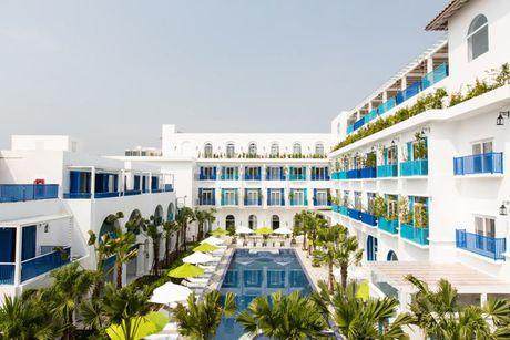 An tuong resort sang trong kieu Santorini dau tien tai Da Nang - Anh 8