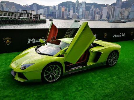 Lamborghini Aventador Miura Homage dau tien 'ha canh' o Hong Kong - Anh 1