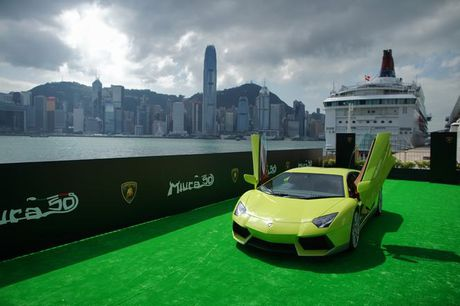 Lamborghini Aventador Miura Homage dau tien 'ha canh' o Hong Kong - Anh 9