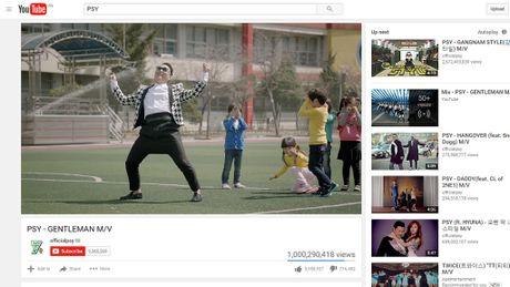 Hit 'Gentleman' cua Psy can moc 1 ti luot xem tren Youtube - Anh 1