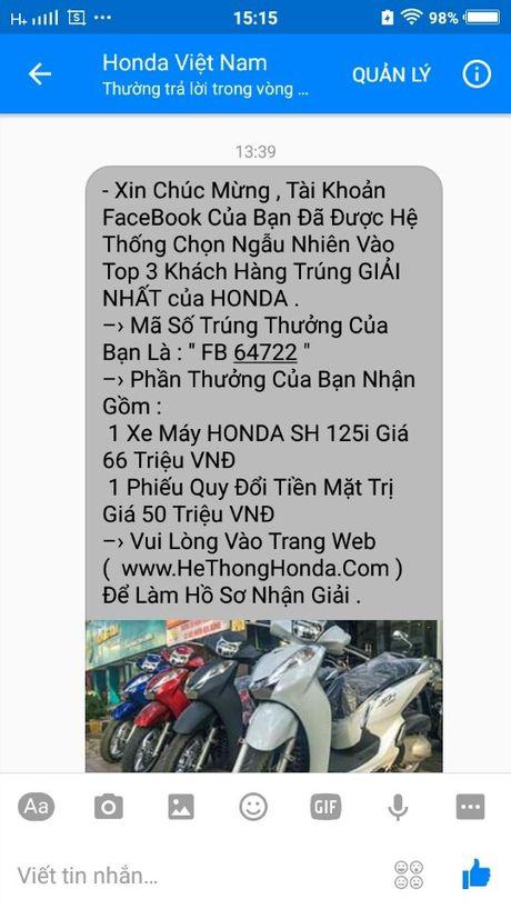 Lien tuc khach hang bi web gia mao Honda Viet Nam lua trung thuong - Anh 1