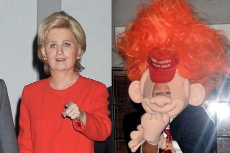 Sao Hollywood hoa than thanh Hillary Clinton va Donald Trump trong tiec ma quy - Anh 6