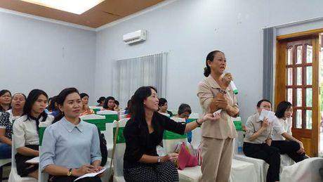 Hoi LHPN TP.HCM: To chuc giao luu cac Ban chu nhiem Cau lac bo Xay dung gia dinh hanh phuc - Anh 3