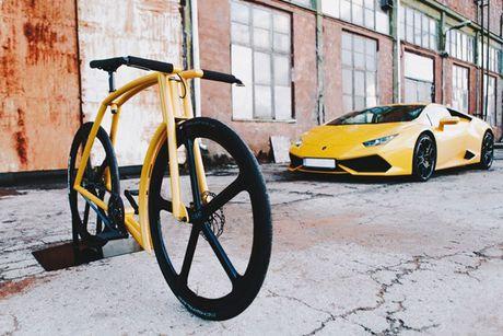 Viks GT Bike – xe dap phong cach sieu xe Lamborghini - Anh 1