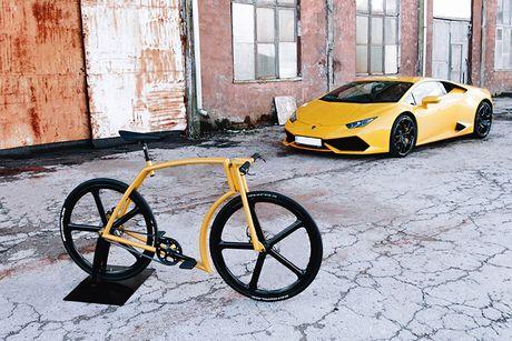 Viks GT Bike – xe dap phong cach sieu xe Lamborghini - Anh 2