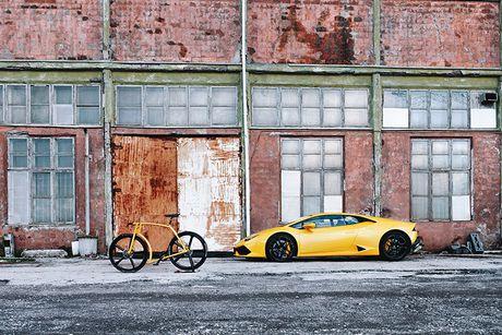 Viks GT Bike – xe dap phong cach sieu xe Lamborghini - Anh 7