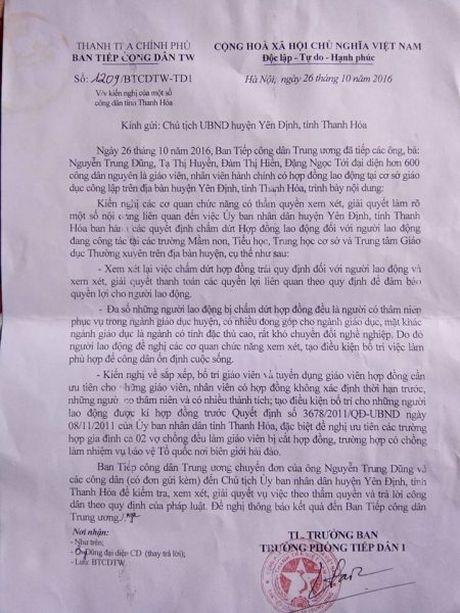 Tiep bai; Hang nghin giao vien 'bong dung' mat viec tai Thanh Hoa: Thanh tra Chinh phu de nghi giai quyet vu viec - Anh 1