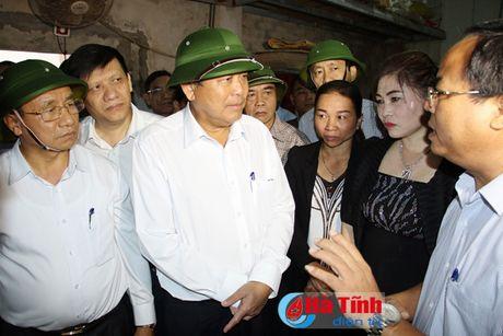 Pho Thu tuong Truong Hoa Binh kiem tra cong tac boi thuong thiet hai su co moi truong bien - Anh 2