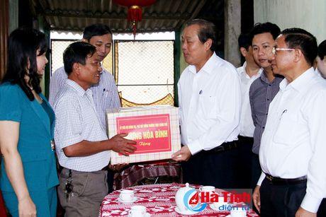 Pho Thu tuong Truong Hoa Binh kiem tra cong tac boi thuong thiet hai su co moi truong bien - Anh 3
