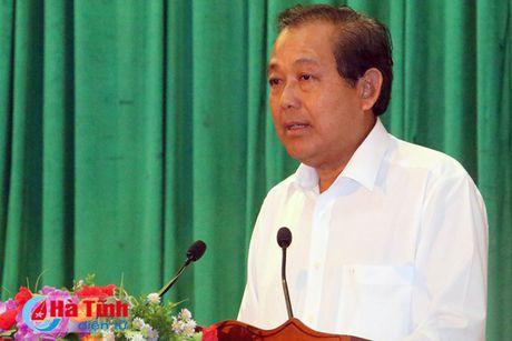 Pho Thu tuong Truong Hoa Binh kiem tra cong tac boi thuong thiet hai su co moi truong bien - Anh 8