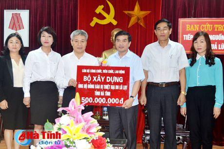 Bo Xay dung ho tro nguoi dan vung lu Ha Tinh 500 trieu dong - Anh 1